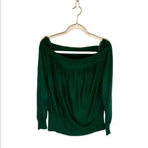 Free People Cowl Neck Green Wool Thermal